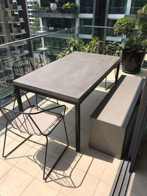 Felles Betongmøbler/spisegrupper/benker/utemøbler/bord/betong  #OT-74