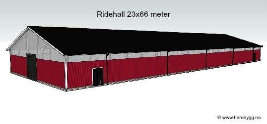 Ungdommelig Ridehall 23x66 meter evt. lagerhall, stålhall, garasje PU-72