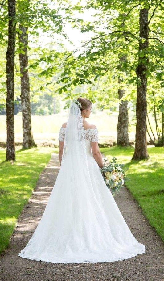 b01bdc28 Mori Lee brudekjole med blonder og alt tilbehør, brukt 1 gang | FINN.no