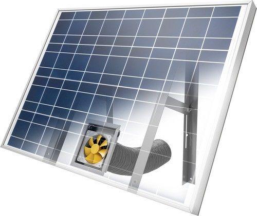 Ungdommelige 80W Solar Duo solcellepanel med solventilator | FINN.no LO18