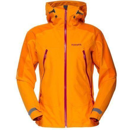 Orange Norrøna Falketind gore tex jakke str small s 36 | FINN.no