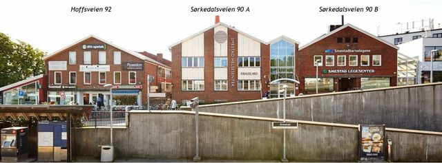Smestad Helsesenter er fordelt i tre forskjellige bygg med tre separate adresser.