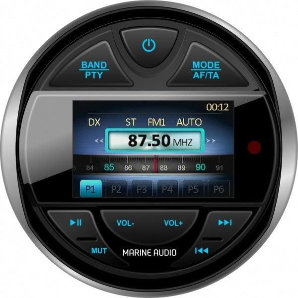 Populära Båt stereo MEGAPAKKE DAB+ rund med 2x200W og 2x350W høyttalere RP-83