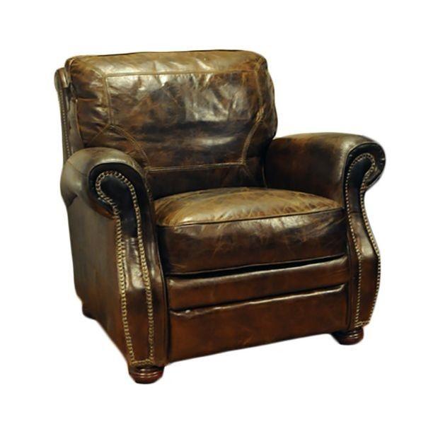 Ypperlig Rustikk brun skinnstol/lenestol | FINN.no EU-11