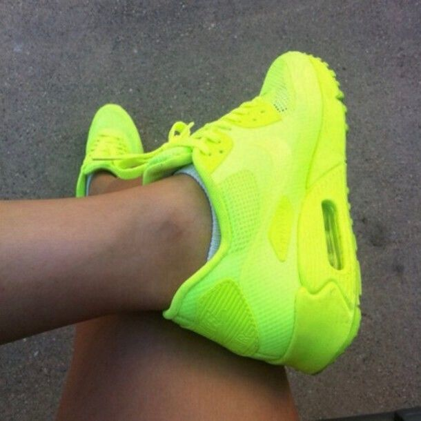 Nike Air Hyperfuse neongul sneakers str. 36,5 37   FINN.no