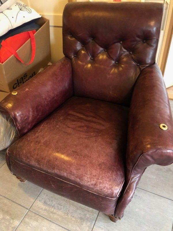 Skinn stol stor og god | FINN.no