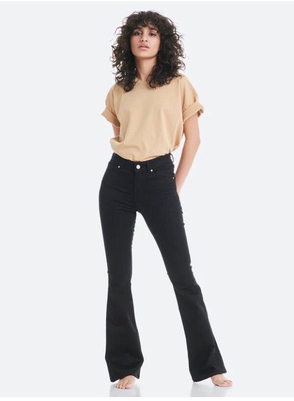 Never denim, Flare black jeans str XS | FINN.no