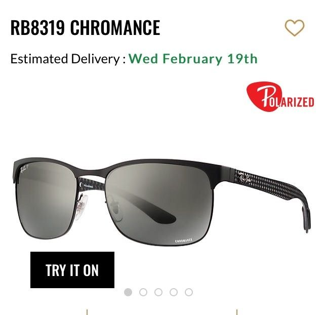 Nye Ray Ban chromance solbriller med polarisert glass | FINN.no