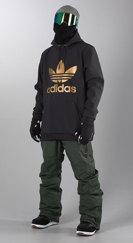 NY Adidas Team Tech Riderhood gull trefoil hoodie | FINN.no