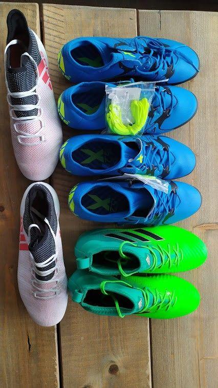Nye fotballsko og fotballsko brukt en gang Adidas str. 42