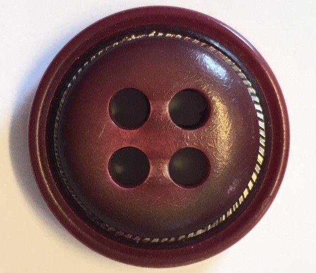 Vintage, nye mørke røde KÅPE KNAPPER, 10 stk. i god kvalitet