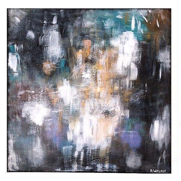 Abstrakt maleri 90x90cm | FINN.no