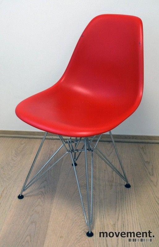 12 stk Vitra DSR besøksstol i rødt, Design: Charles & Ray