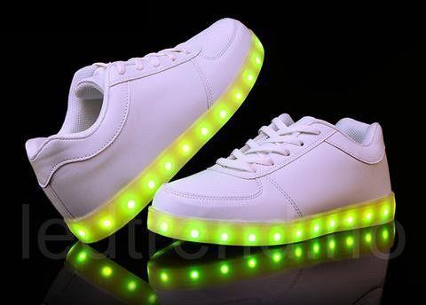 Blinkesko helt nye i ekte skinn sko med lys fritidssko