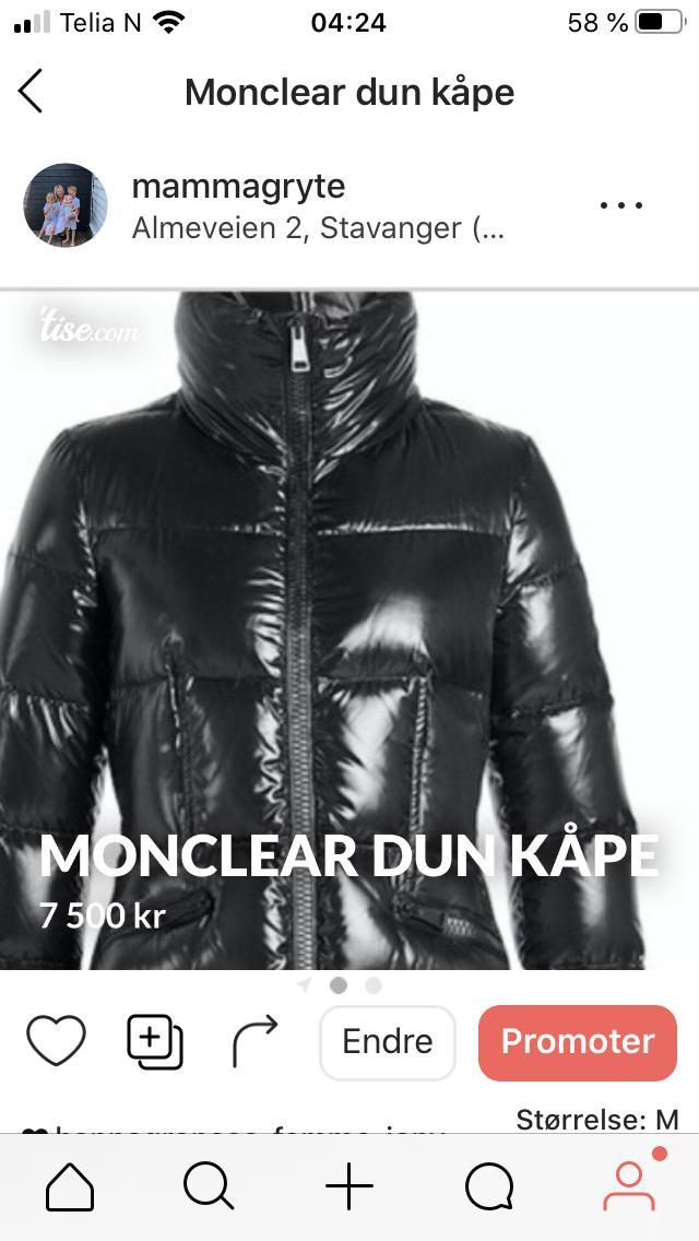 Moncler kåpe | FINN.no