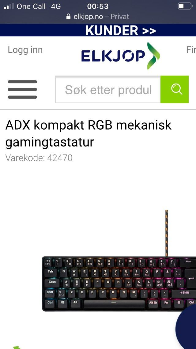Gaming tastatur og headset | FINN.no