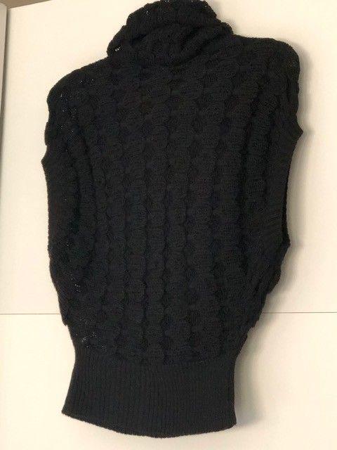 HELT NY original sort vest strike genser uten armer med