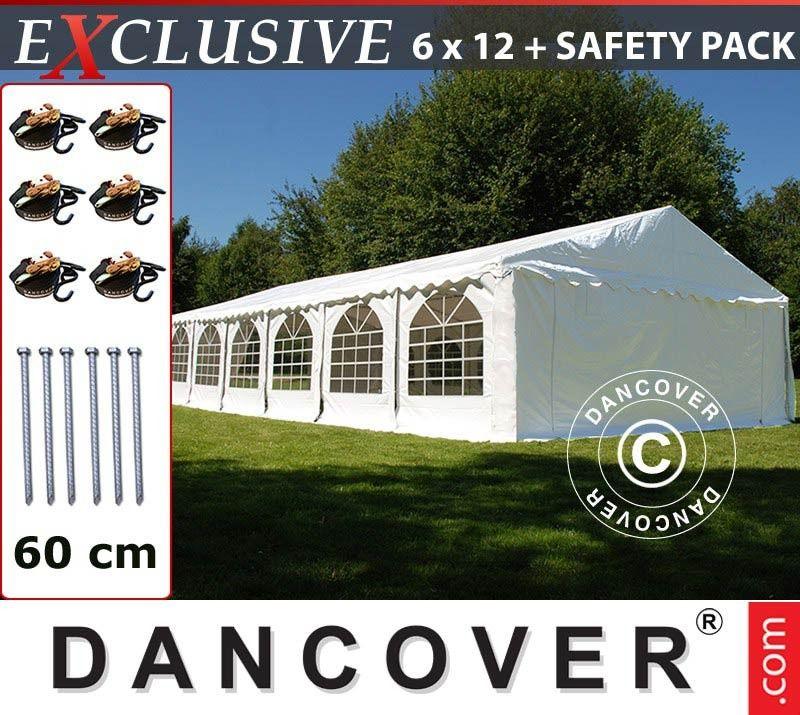 Fantastisk Partytelt 6x12 m PVC Hagepaviljong Messetelt | FINN.no PO96