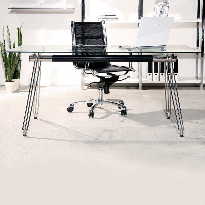 Stor Arbeidsbord Kontor Glass Metall PÅ LAGER - FRI FRAKT!   FINN.no QK-86