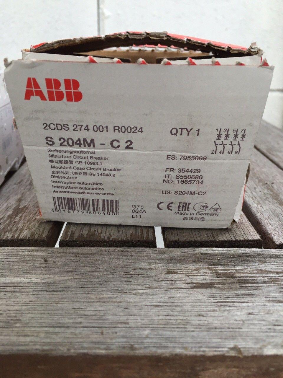 ABB S 204M C 2 AUTOMAT C2A 10KA 4P - Fjellhamar  - 2 nye og ubrukte ABB S 204M C 2 AUTOMAAT C2A 10KA 4P sikringer  Se link for mer info http://www.abbconnect.nl/pdf/product.aspx?ordercode=2CDS274001R0024  Selges samlet 300.- for 2 stk  Sender varer mot - Fjellhamar