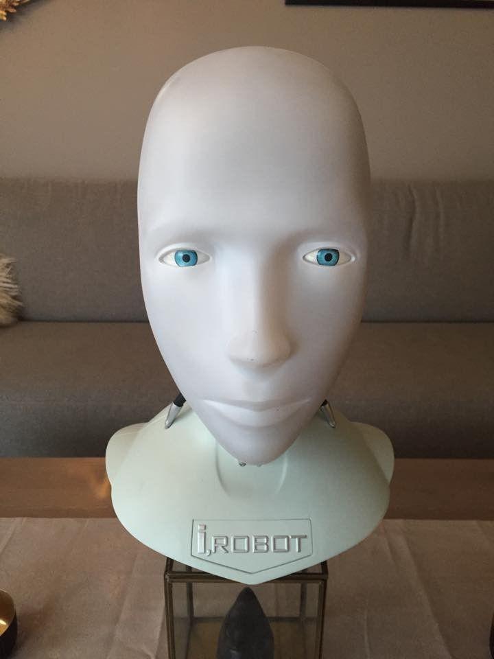 I-Robot Sonny byste hode Will smith 1/1 skala sci-fi ikke star wars ! - Molde  - I-Robot Sonny byste hode Will smith 1/1 skala sci-fi ikke star wars   Byste av roboten Sonny i Filmen I-Robot will smith   bakplate på hodet kan taes av - Molde