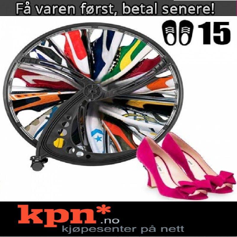Ferris Hjul Roterende skohylle for 15 par sko