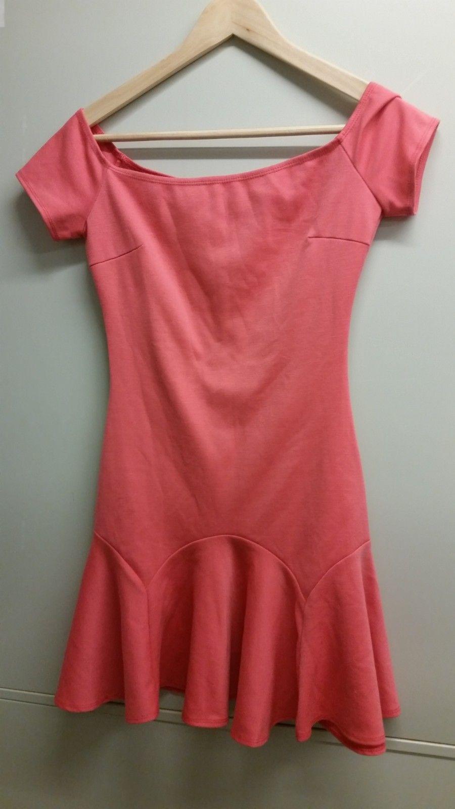 d47c2d6f Oneness bardot kjole korall, str xs | FINN.no