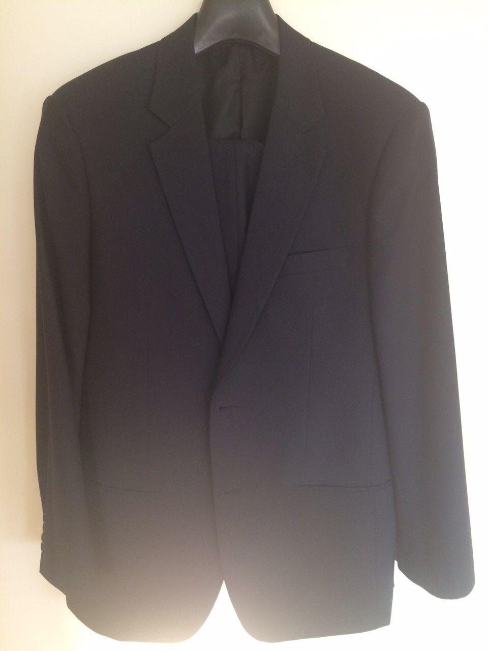 Marineblå dress i cashmereull str 52 - Oslo  - Pent brukt marineblå dress i cashmereull. Størrelse 52. - Oslo