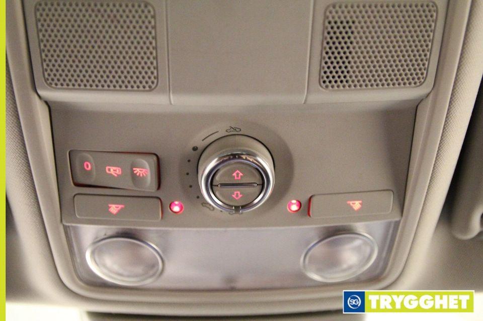 dreies dette hjulet, så vil takluken åpne seg og knappene i midten styrer sjalusigardinet