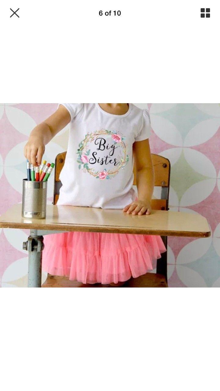Body med tekst - Stavanger  - Body litlle sister 0-3 months T-shirt Big sister 4-6 years Brand New all for 150 kr - Stavanger