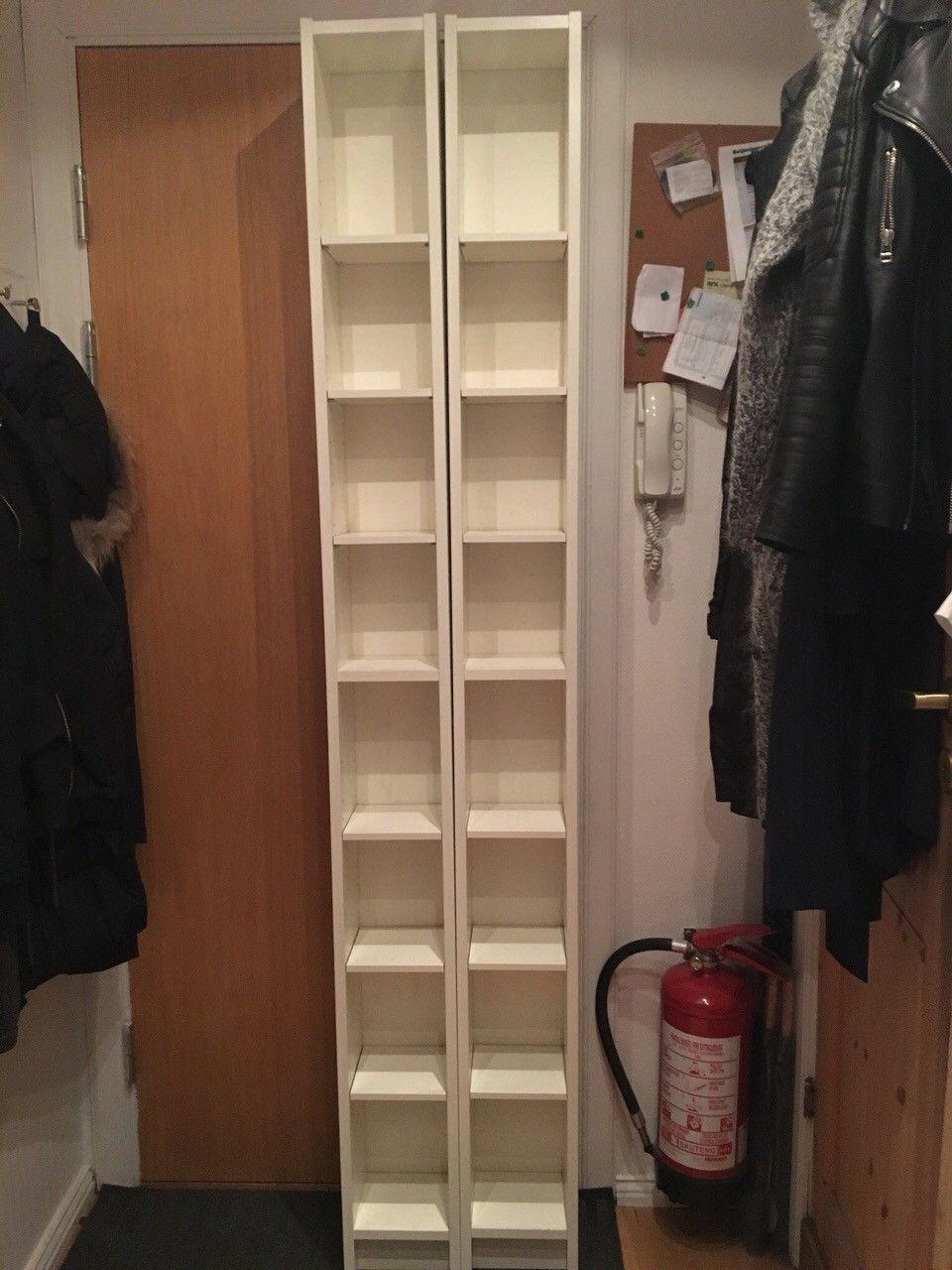 Benno hyller fra Ikea - Oslo  - 2 stk Benno CD/DVD hyller i hvitt selges.   Selges samlet for 200,-. - Oslo