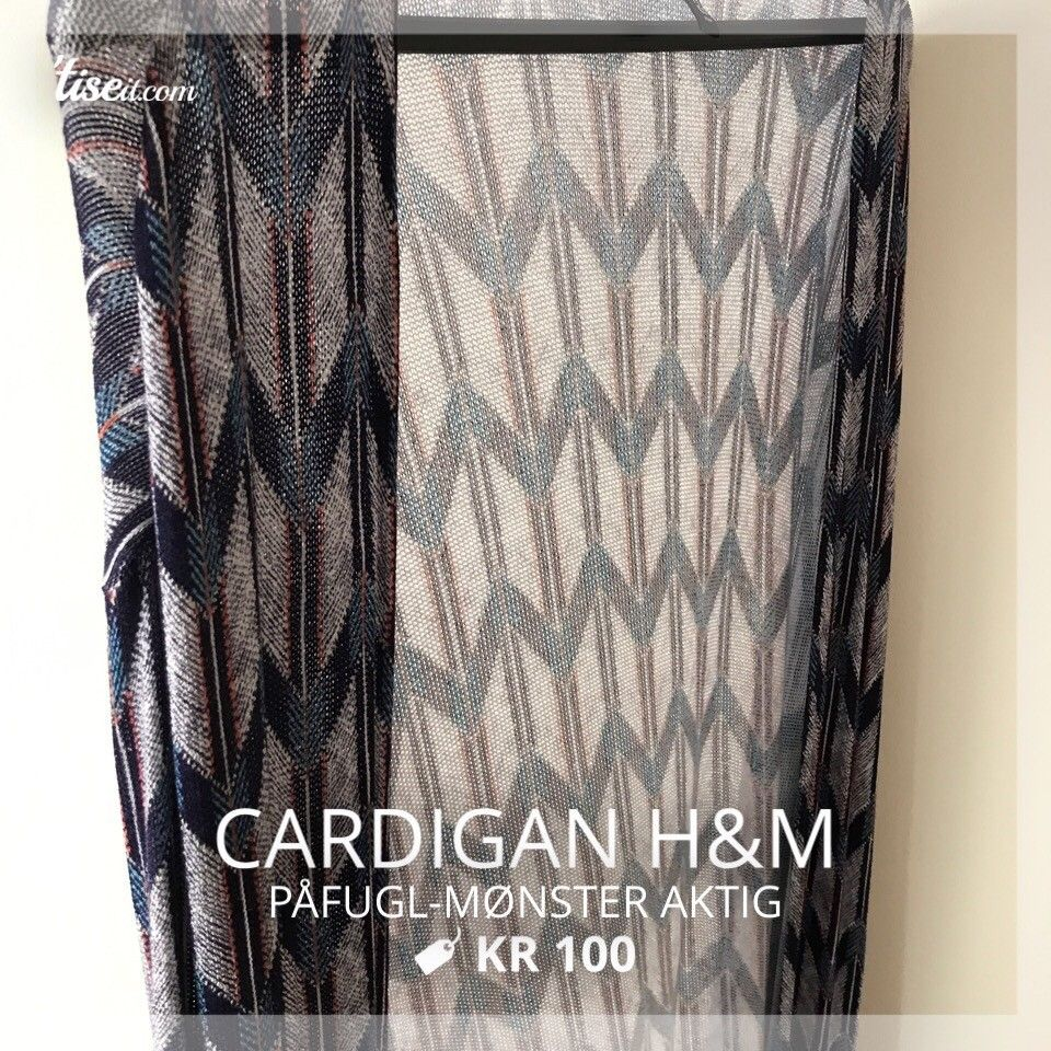 Cardigan - Oslo  - Cardigan fra H&M. Brukt 1 gang.  Påfuglmønsteraktig - Oslo
