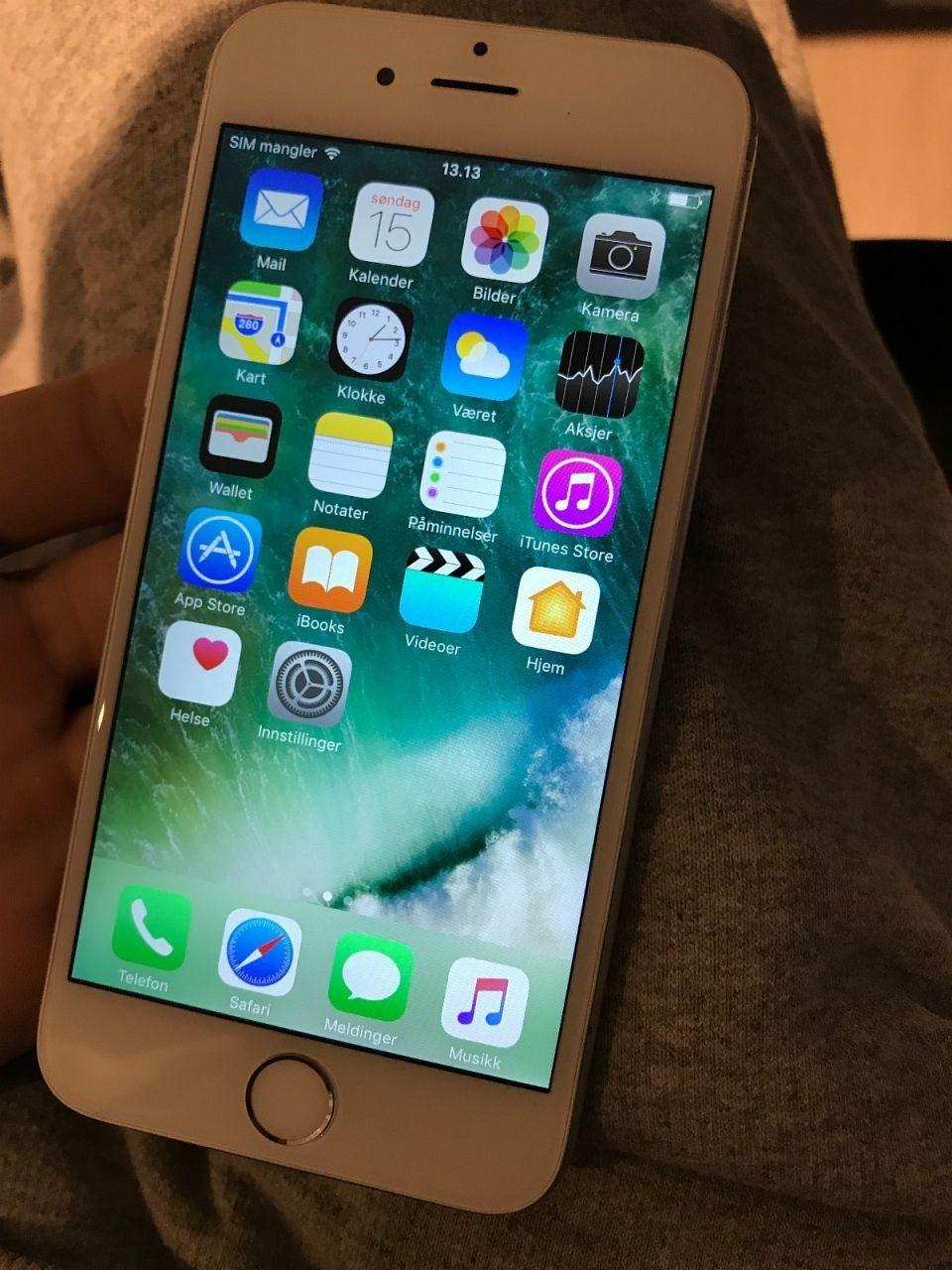 iPhone 6 16gb hvit/sølv - Oslo  - Iphone 6 16 GB ulåst selges. Selger min eldre iphone da den ikke er i bruk lenger. Funker som den skal! - Oslo