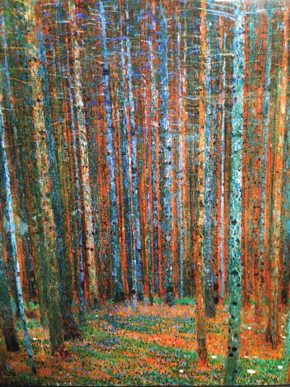 Gustav Klimt Tannenwald (Pine Forest), 1902 med ramme - Oslo  - Gustav Klimt Tannenwald (Pine Forest), 1902   Vare # : 2586049 kjøpt på Allposters.com Rammelist: Hampton Black Wide Glass: Acrylic: Clear Giclee trykk Endelig størrelse: *65,7cmx67cm  Kjøpt på allposters. Med innrammi - Oslo