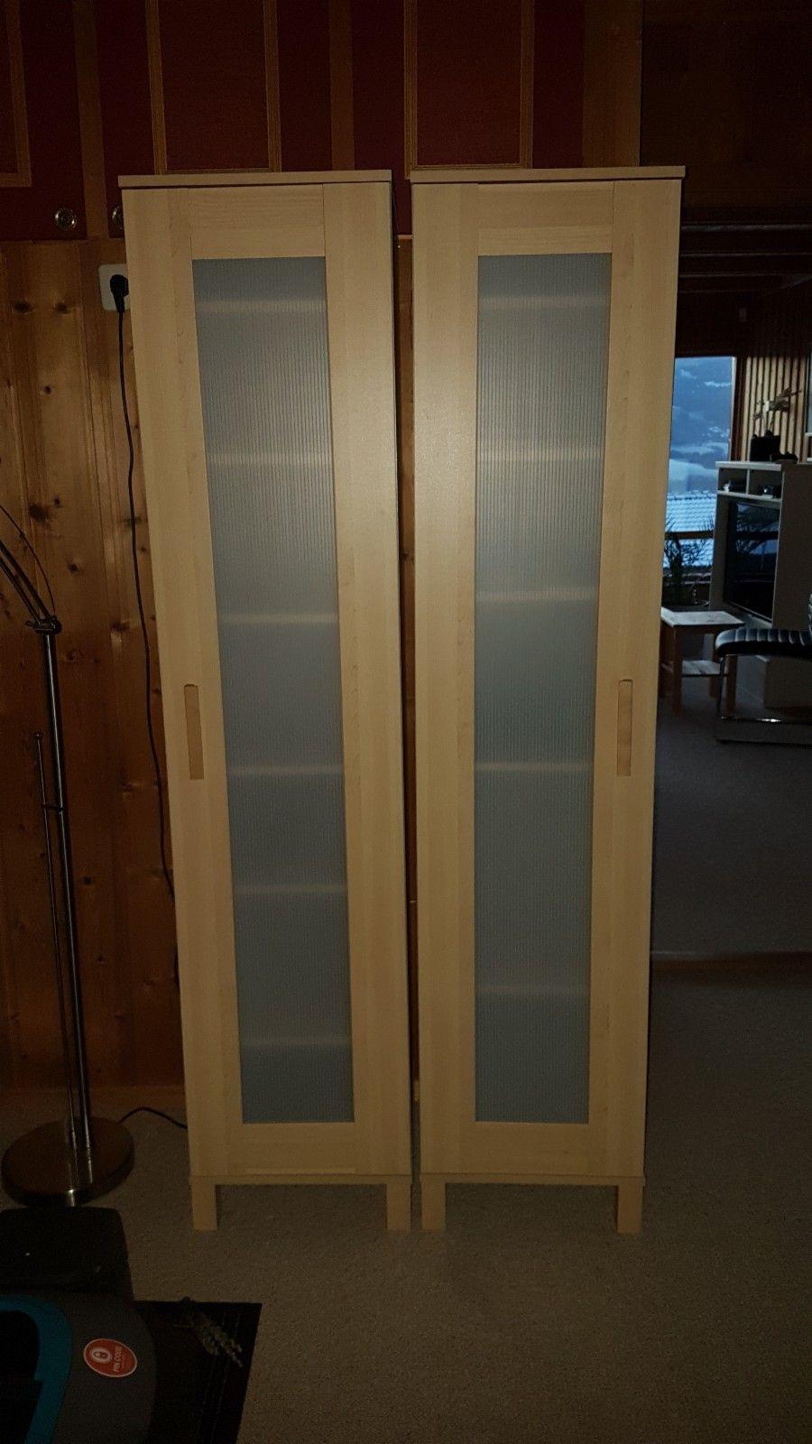 Aneboda skap-Ikea - Lillehammer  - 2 stk Ikea skap, Aneboda. (det er 2 stk som står ved siden av hverandre på bildet) 40•40•180 med 6 justerbare hyller. Trefolie. - Lillehammer