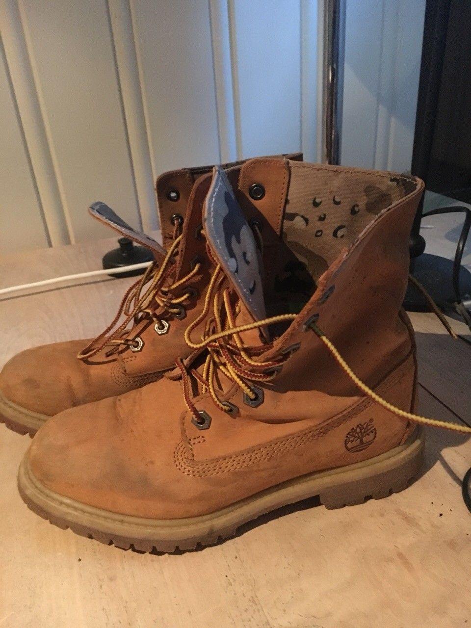 Timberland-boots str 37 - Oslo  - Timberland boots. Lite brukt. Camo-mønster inni. Nypris 1800 kr - Oslo