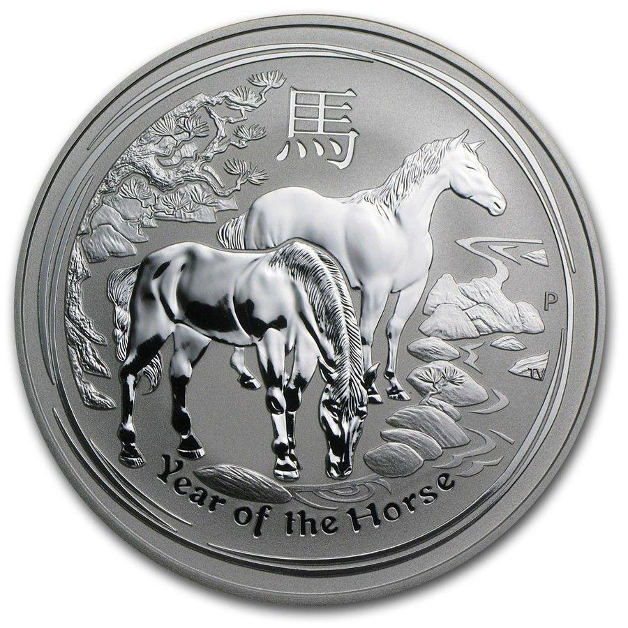 2014, 1oz Lunar II, Year of the Horse. - Krokkleiva  - 2014 Australia, 1oz, 999 sølv. BU mynt i kapsel. Selges kr 399,- + porto, (skam-bud er unødvendig).  Vennligst ikke ring, send sms, pga sykdom. - Krokkleiva