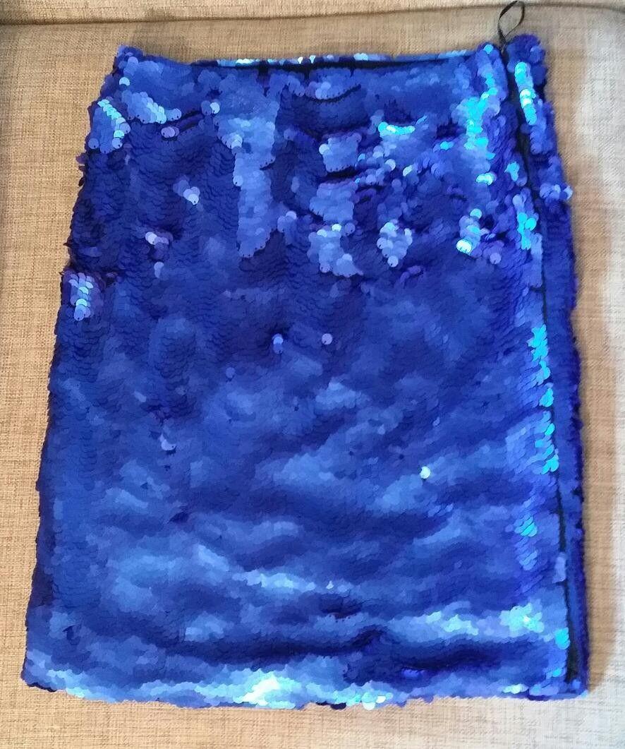 15fc4b5d Zara blått paljett skjørt | FINN.no