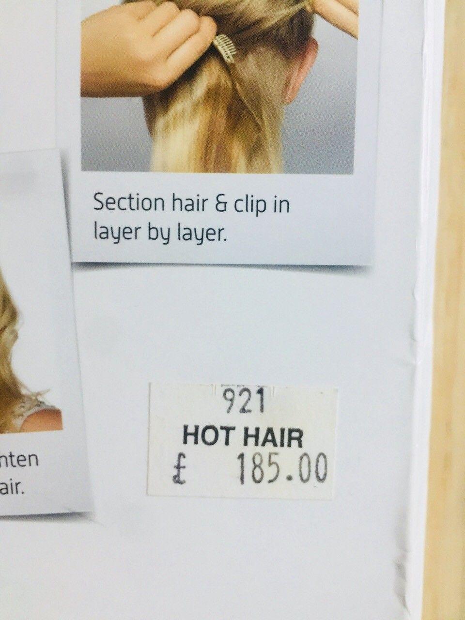 Ekte hår clip on hår . - Kløfta  - Kjøpt på selfridgs London  185 pund ( 2023kr)  Lite brukt og ikke rettet eller krøllet - Kløfta