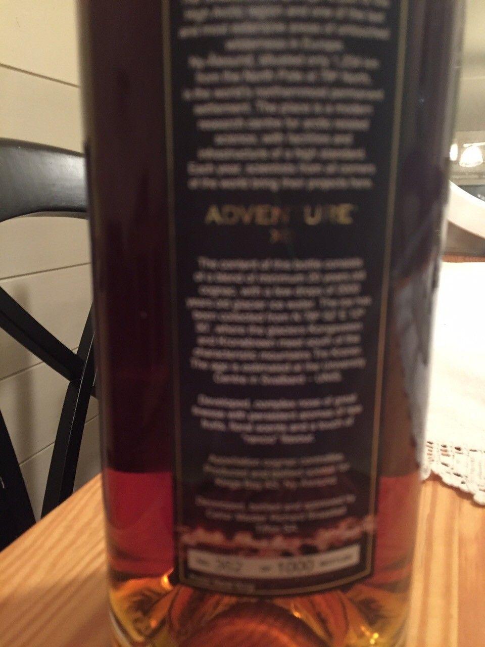 Cognac fra Ny-Ålesund XO - Oslo  - Ny-Ålesund cognac selges hbo kr 900,-. - Oslo