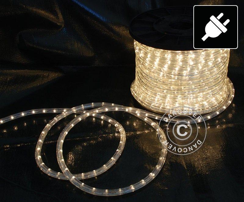 Enorm Lysslange, 50m LED, Varm Hvit, Lyslenke, Lyskjede, Julelys, Party LO-96