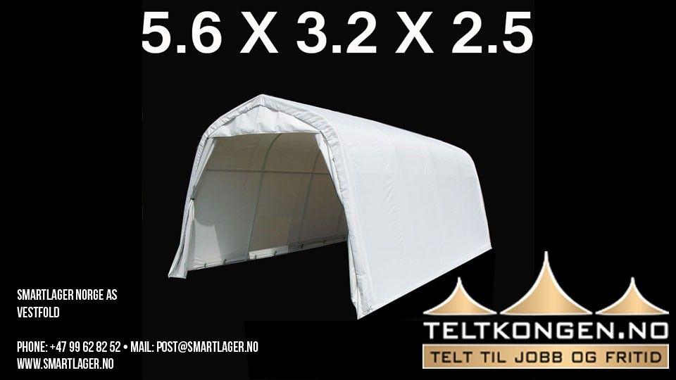 lager telt til oppbevaring av hagemøbler mv. 5,6 x 3,2 x 2,5
