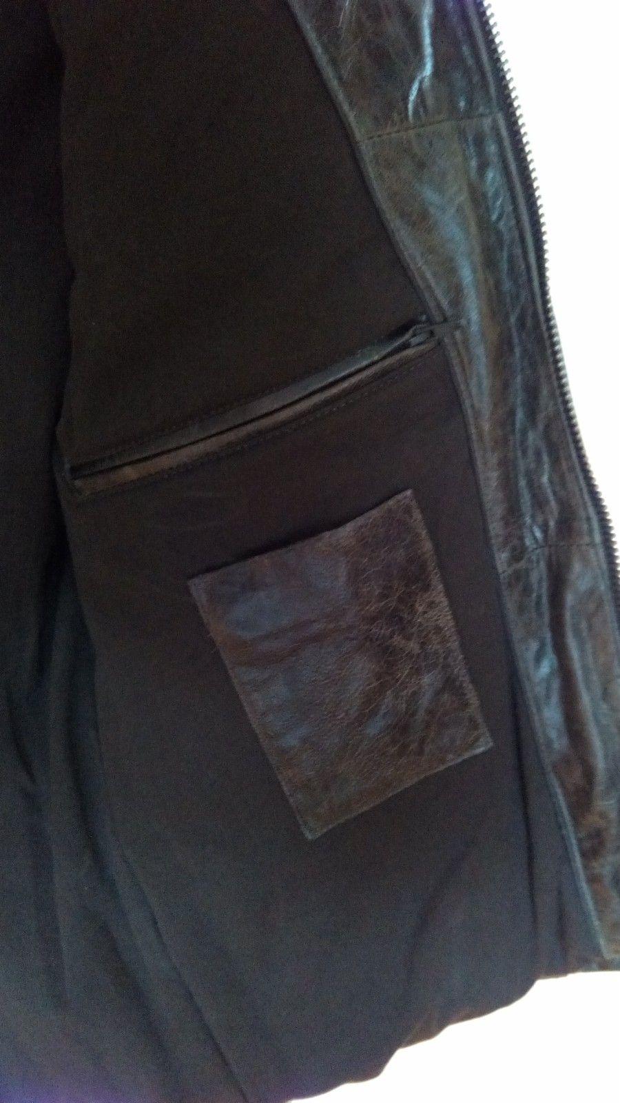 NY Leatherman Solid Skinnjakke Mørke Brun Gi BUD! | FINN.no