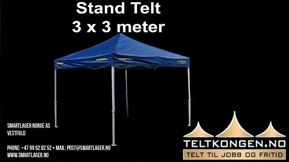 Profesjonelt popup utsalgs telt 3 x 3 m. Smartlager. | FINN.no