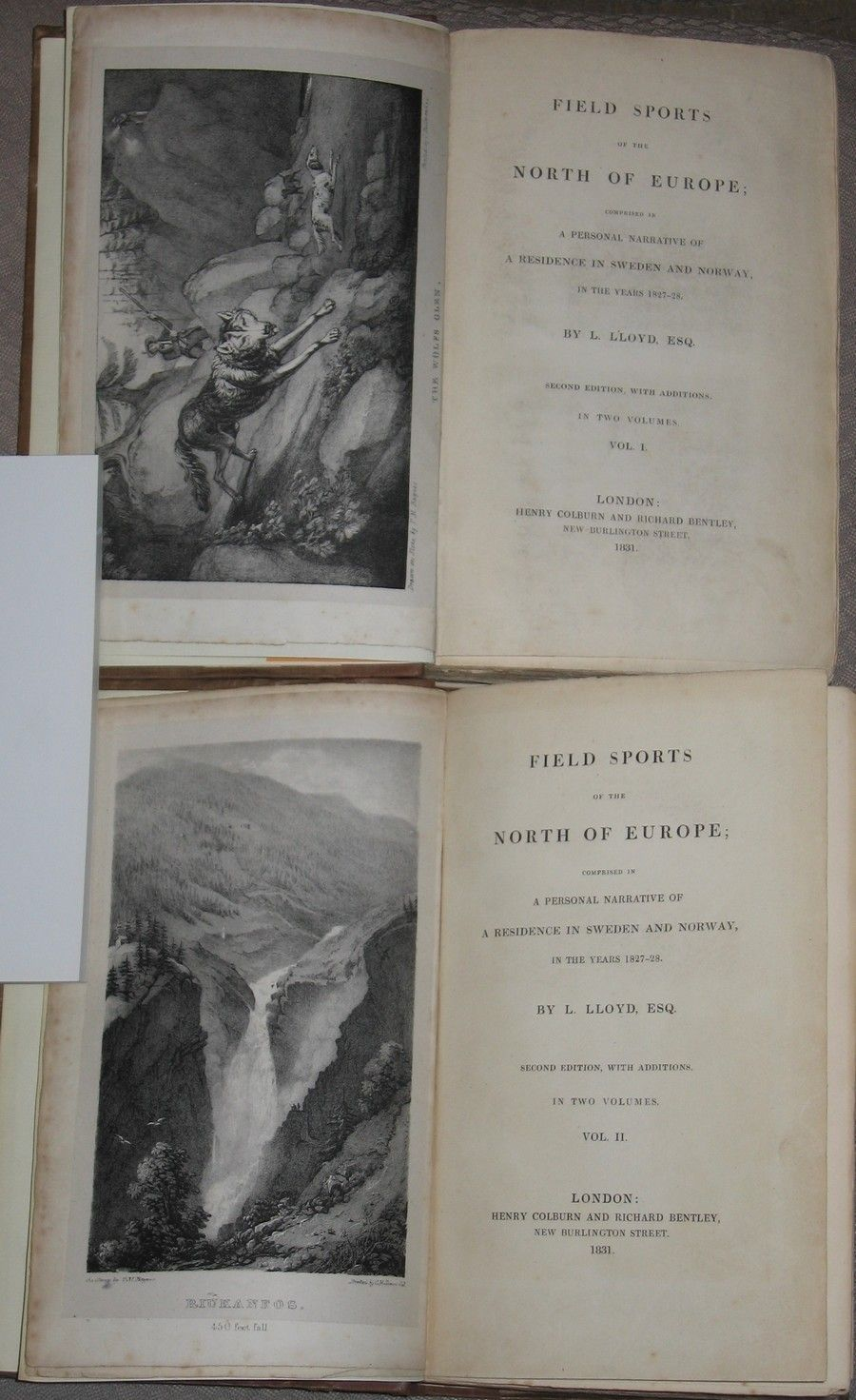 Llewellyn Lloyd: Field sports of the north of Europe (1831) - Oslo  - Llewellyn Lloyd: Field sports of the north of Europe (1831)  Lloyd, L. (Llewellyn): Field sports of the north of Europe; comprised in a personal narrative of a residence in Sweden and Norway, in the years 1827-28. Second edition, with ad - Oslo
