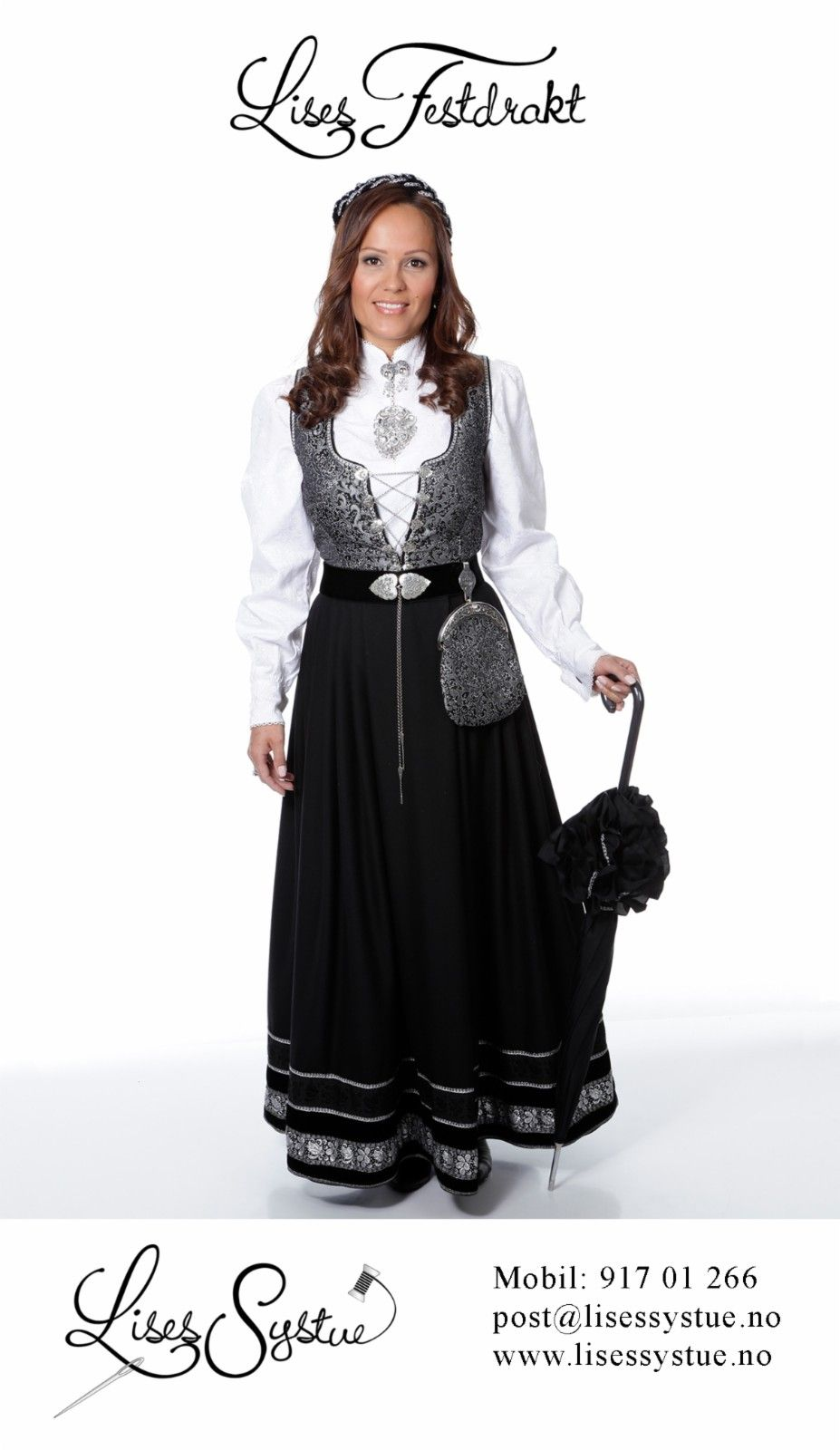 2fecceed Lises Festdrakt med belte, veske og nødvendig sølv som sitter på drakten,  sydd etter dine mål. (2/38)
