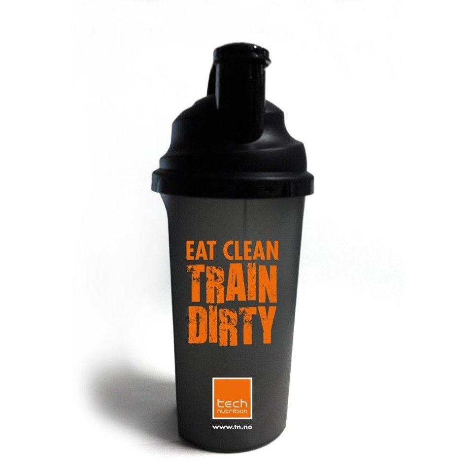 """NY 2x Strongr/Tech Nutrition shaker og drikkeflakse TRAIN DIRTY/Train Insane - Oslo  - Ubrukte.  1x Train Insane or Remain the Same!  Sort Tech Nutrition drikkeflaske, 750 ml.  1x TRAIN DIRTY"""" SHAKER 0,7l  Eat clean - train dirty! Shaker med skrulokk og rist. Perfekt til å blande p - Oslo"""