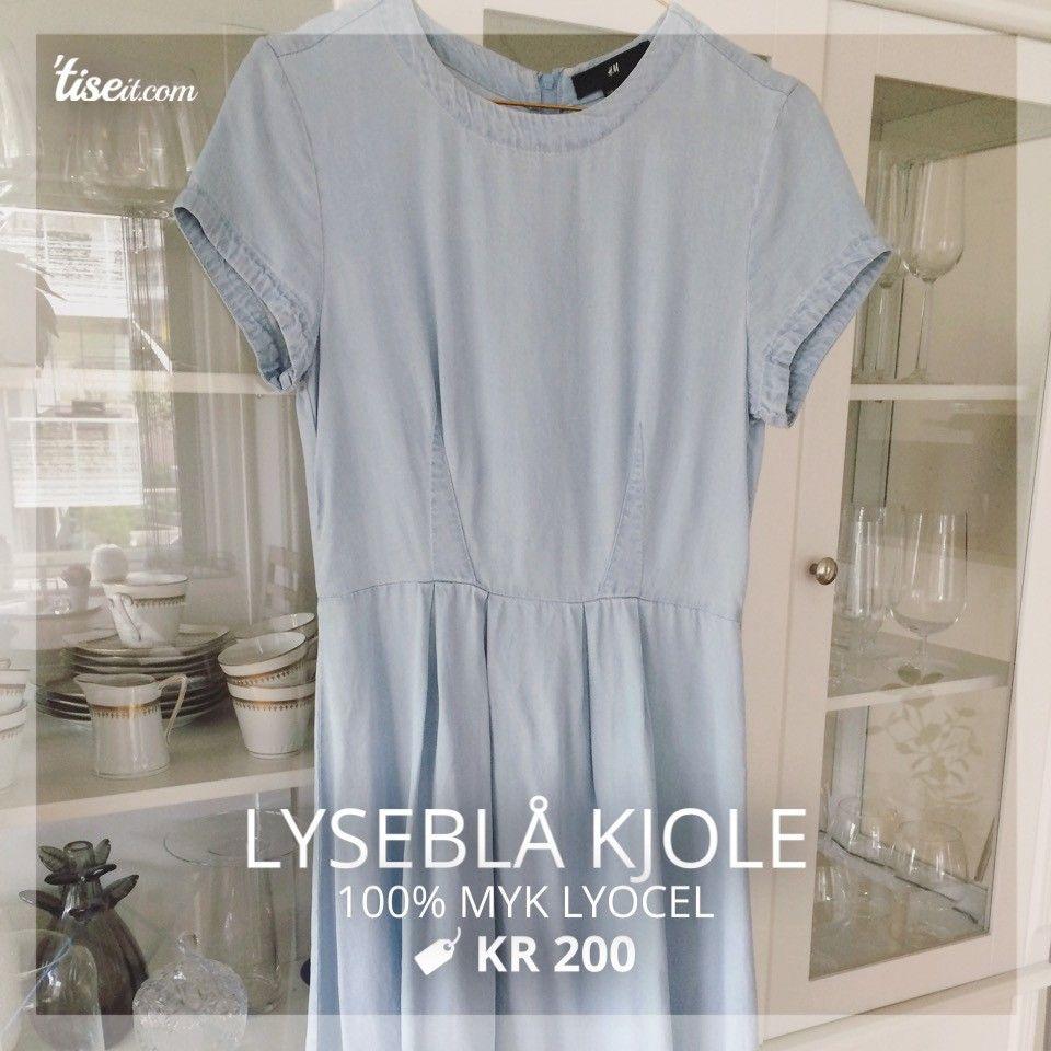 lyseblå grå kjole