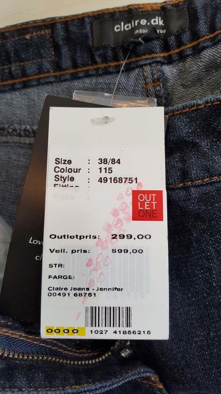 28e7e05d Claire.dk Jennifer Mørk Blå Sleng Jeans med Høyt Liv. | FINN.no