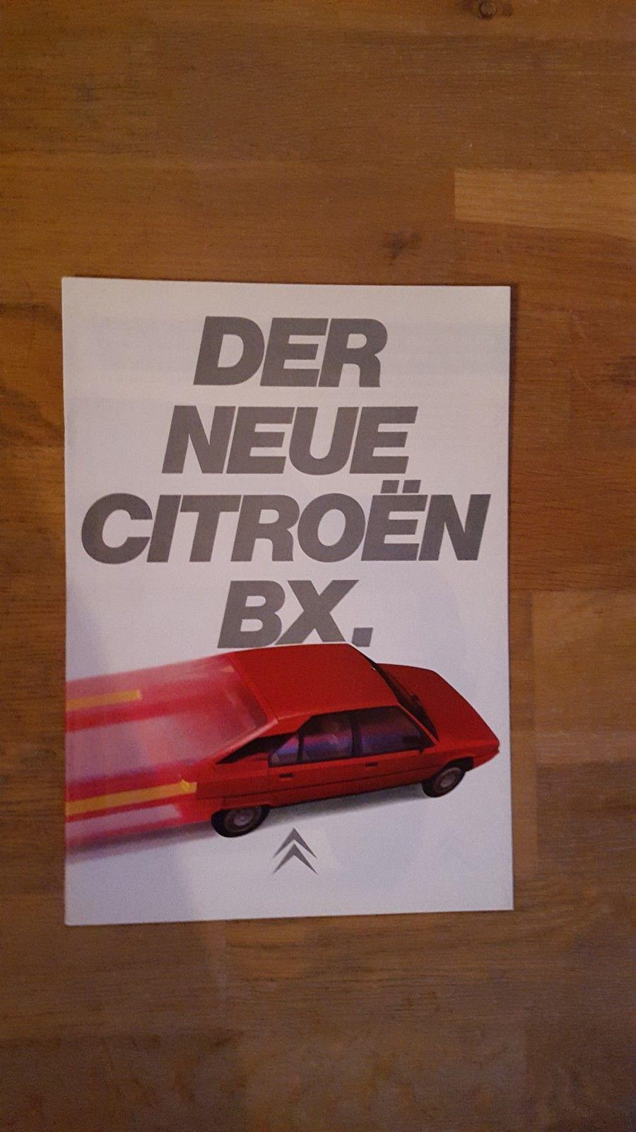 Brosjyre Citroen BX 1983 - Sandefjord  - Bilbrosjyre Citroen BX 1983, 16 sider, tysk, god stand, kr. 100,- + porto - Sandefjord